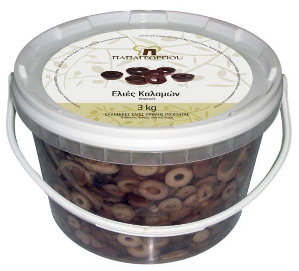 Ελιές Ροδέλες Καλαμών 3Kg
